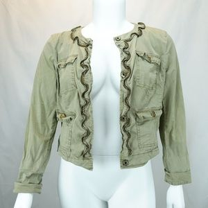 Michael Kors Army Green Military Bomber Jacket